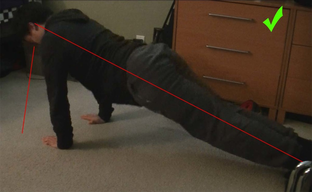 Good form push-up