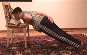High Incline One-Armed Pushup 2