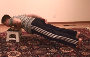 Low Incline One-Armed Pushup 2